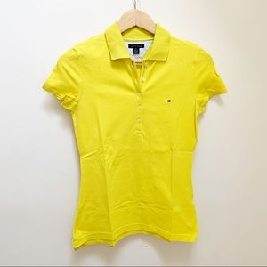Tommy Hilfiger yellow polo shirt S